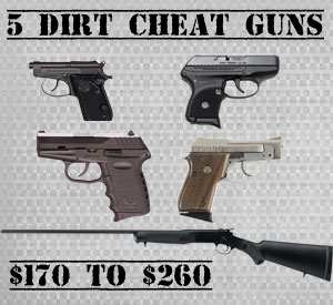 5 Dirt Cheap Guns Under $300