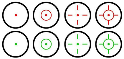 4 Seperate Reticles