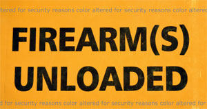 Firearm Unloaded Sticker