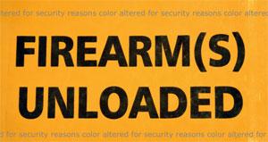 Firearm Unloaded Sticker